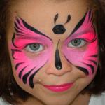pustne maske ideje - poslikava - metulj