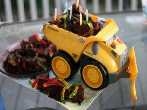 Izvirna otroška torta - bager