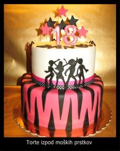 Torta za otroke - Plesna, dance, hip hop