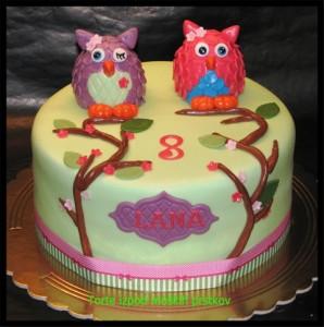 Torta za otroke - Sovice