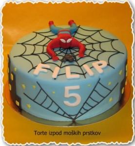 Otroška torta - spiderman za fante