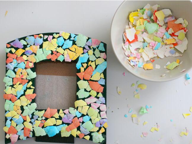 mozaik iz jajcnih lupin