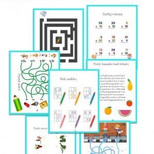 Knjiga aktivnosti – Aktivne igre za otroke nad 7. let (26 strani)