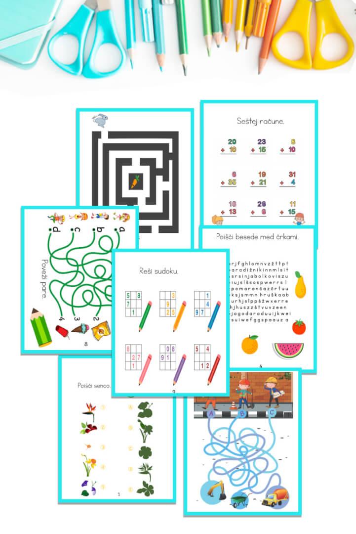 Knjiga aktivnosti - Aktivne igre za otroke 7. let
