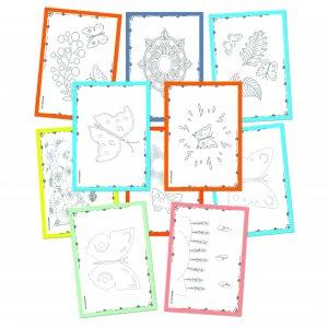 Pobarvanka za otroke – Cvetlice in metulji (23 strani)