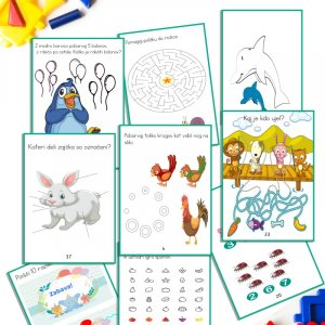 Knjiga aktivnosti – Aktivne naloge za otroke mlajše od 7. let (41 strani)