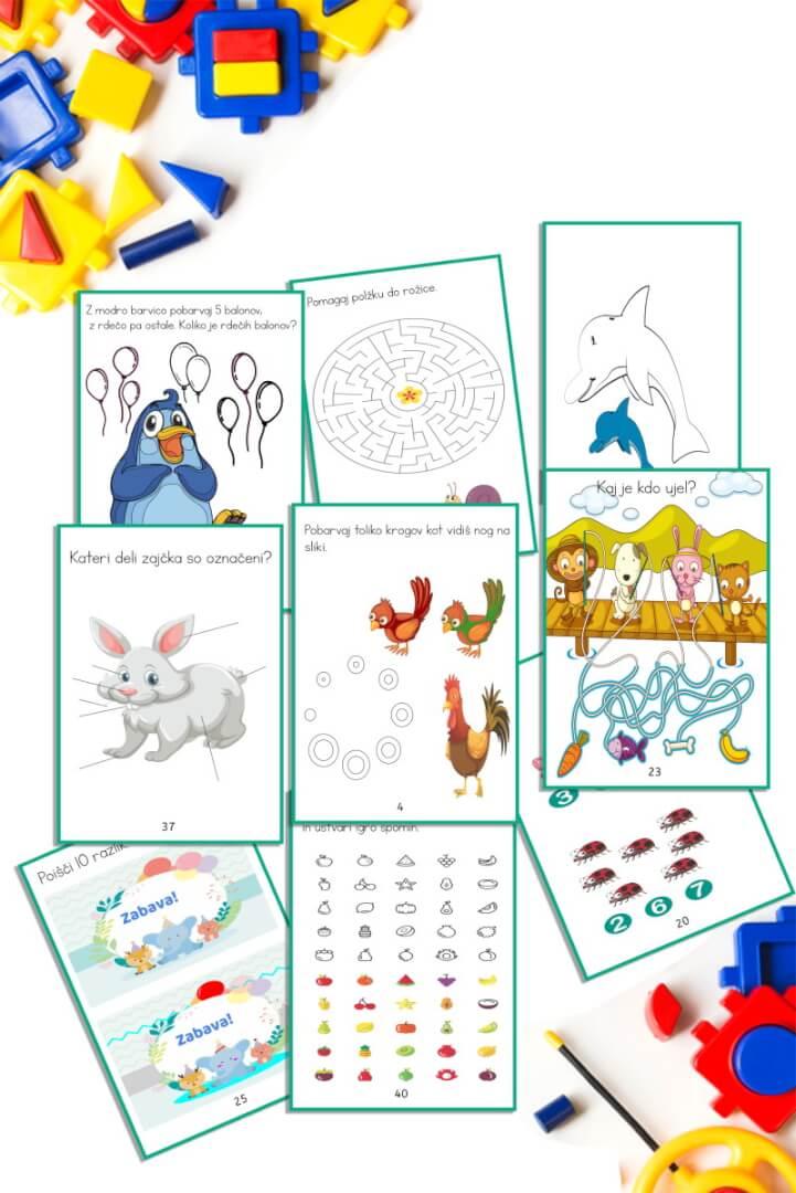 aktivne naloge za otroke do 7.let