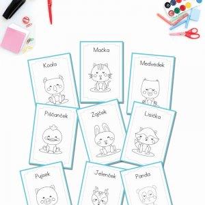 Pobarvanka za otroke – Za najmlajše – Ljubke živali (10 strani)