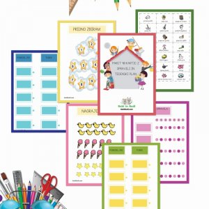 Paket 48 kartic z opravili in tedenski plan (23 strani)