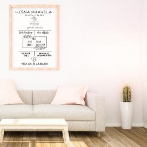 Personalizirana stenska dekoracija – Hišna pravila
