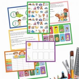 Moja dnevna rutina – 20 kartic za otroke do 5. let (8 strani)