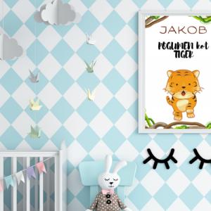 Personalizirana stenska dekoracija – Pogumen kot tiger