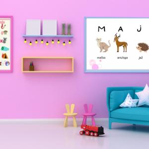 Personalizirana grafika z otroškim imenom – mehurčki