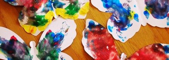 Ustvarjamo z barvami – metuljčki