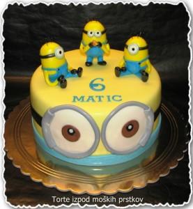 Torta za otroke - minioni