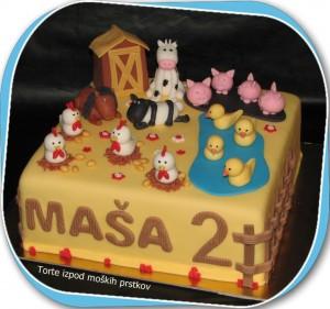 Otroška torta - na kmetiji