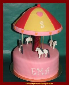Otroška torta - konji - cirkus