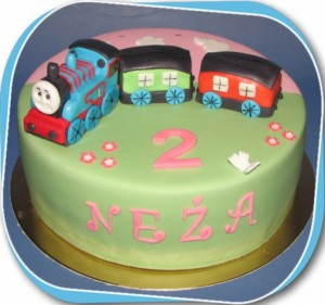 Otroška torta - lokomotivček tomaž