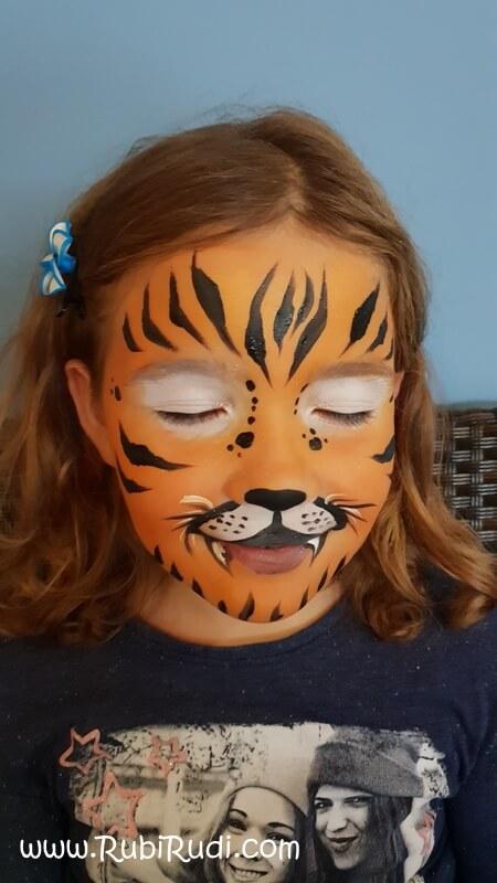 poslikava za otroke tiger