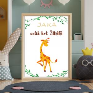 Personalizirana stenska dekoracija – Velik kot žirafa