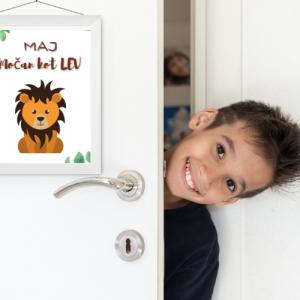 Personalizirana stenska dekoracija – Močan kot lev