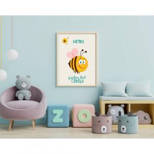 Personalizirana stenska dekoracija – Pridna kot čebela