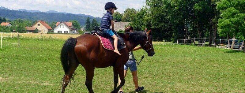 Počitniško varstvo 2020 za otroke z jahanjem konj v Ljubljani