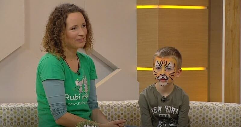 Rubi Rudi na Planet TV - poslikava obraza