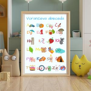 Personalizirana abeceda A3 – male in velike tiskane črke