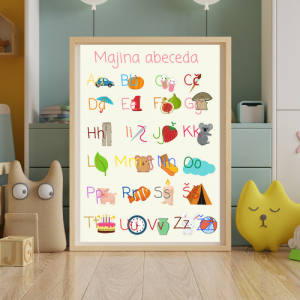 Abeceda – Personalizirana grafika za otroke