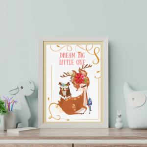 Stenska dekoracija – Dream big little one