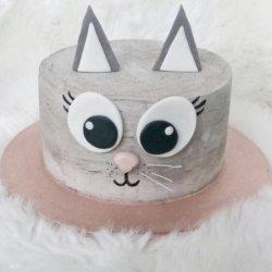 otroška torta mucek