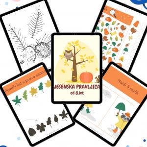 Knjiga aktivnosti – Jesenska pravljica za otroke od 8. let (25 strani)
