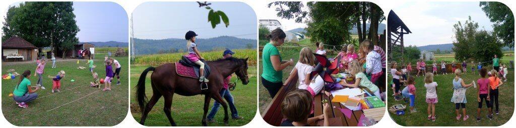 Otroška delavnica z jahanjem konja