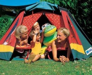 kampiranje z otroci