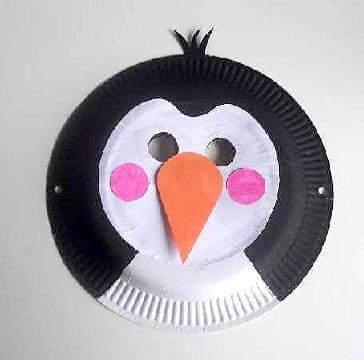 maska iz papirnatega krožnik