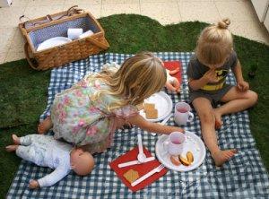 piknik v hisi za otroke