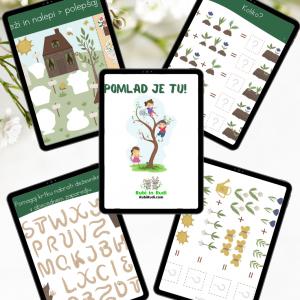 Knjiga aktivnosti – Pomlad je tu (36 strani)