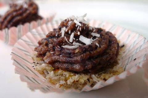 presni mini kolacki kokosom borovnicami